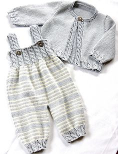 Baby Overalls with detailed cabled bodice and matching sweater - Zopfstrampler m. - - Baby Overalls with detailed cabled bodice and matching sweater - Zopfstrampler mit passendem Jäckchen Baby Overalls with detailed cabled bodice and ma. Baby Knitting Patterns, Knitting For Kids, Baby Patterns, Free Knitting, Baby Sweater Knitting Pattern, Knit Baby Sweaters, Baby Knits, Cable Sweater, Dress Patterns