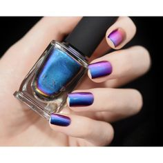 Birefringence Blue Purple Red Green Yellow Orange Ultra Chrome Color... ($13) ❤ liked on Polyvore featuring beauty products, nail care, nail polish, nails, makeup, beauty supplies, craft supplies & tools, grey, nail art supplies and shiny nail polish