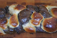Double chocolate chip challah! Perfect for Shabbat dinner, Sunday brunch...or best? French toast!