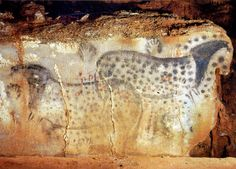 Prehistoric Spotted Horses and Human Hands Pech-Merle Cave, Dordogne , France. Horses BCE, hands c. Ancient History, Art History, Paleolithic Art, Art Rupestre, Lascaux, Cave Drawings, Horse And Human, Art Ancien, Art Sites