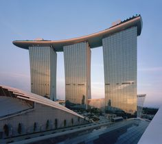 Marina Bay Sands in Singapore. An absolute engineering marvel. This just became tops on my dream destination list...