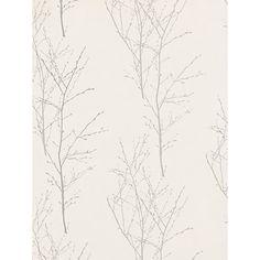 Buy John Lewis & Partners Birch Wallpaper, Silver from our Wallpaper range at John Lewis & Partners. Wood Interior Walls, White Wood Furniture, Wood Furniture Living Room, Wood Walls, Wallpaper Stairs, Wood Wallpaper, Wallpaper Ideas, Pottery Barn Wall Art, Grown Up Bedroom