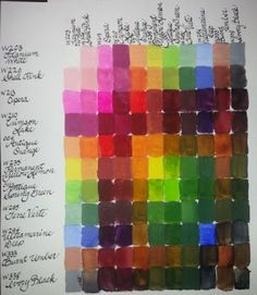 Holbein Watercolors - colors I currently want. Supply List, Learn Art, Painting Tips, Art Journals, Sketchbooks, Athens, Color Palettes, Watercolors, Planners