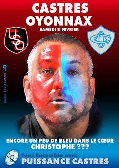 Rugby Castres reçoit Oyonnax. Le samedi 8 février 2014 à castres.