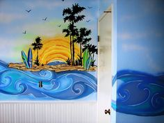 """Cassidy Clark: """"Surfer Girl"""" Bedroom when we get our own place i want jeff to paint a big wave or beach scene on our wall!"""