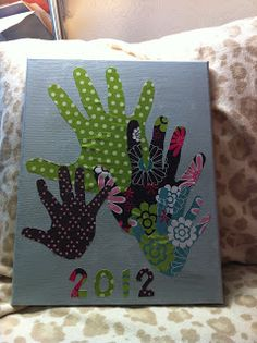 fathers day ideas Handprint Canvas