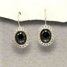 Silver and jet earrings handmade with traditional methods. Artcraft of The Way of Saint James. Tax free $39.90