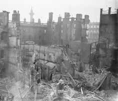 The GPO, Dublin, Destroyed By British Occupation Forces, 1916 Ireland 1916, Dublin Ireland, Old Pictures, Old Photos, Irish Images, Easter Rising, Visit Dublin, Scotland History, Erin Go Bragh