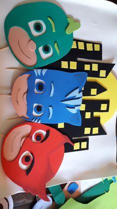 Pj Masks Valentines, Valentine Box, Decoracion Pj Mask, Festa Pj Masks, Paper Factory, Mask Party, Boy Birthday Parties, Cake Smash, Felt Crafts