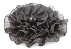 Small black brooch round flower girl accessory by CrystalHandmade, $16.00 Flower Girl Gifts, Girls Accessories, Flower Brooch, Gifts For Girls, Brooches, Flowers, Etsy, Black, Jewelry