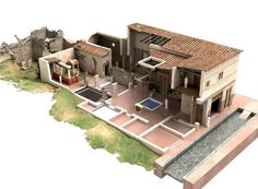 I've been on a bit of a kick right now learning about the Roman Domus; an ancient urban housing solution from about 2000 years ago. Ancient Pompeii, Pompeii And Herculaneum, Roman Architecture, Ancient Architecture, Architecture Romaine, Villa Romaine, Ouvrages D'art, Roman City, Art Antique