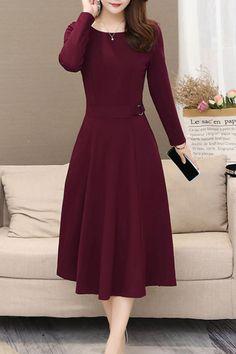 Cheap Skater Dresses, Midi Skater Dress, 15 Dresses, Dresses Online, Casual Dresses, Fashion Dresses, Fashion Hats, Dresses With Sleeves, Dress Silhouette
