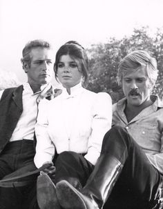 Paul Newman, Katharine Ross, and Robert Redford, Butch Cassidy and the Sundance Kid, 1969