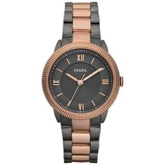 Fossil Women's Sydney ES3075 Two-Tone Stainless-Steel Analog Quartz Watch with Grey Dial - Click pics for a better price <3