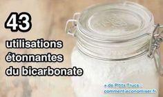 Découvrez les 43 utilisations du bicarbonate de soude.                                                                                                                                                                                 Plus