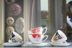 "Set of Tea Cups ""Ladies"" Porcelain cup collection"