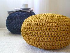 Mustard Yellow Gold Nursery Footstool Ottoman by LoopingHome
