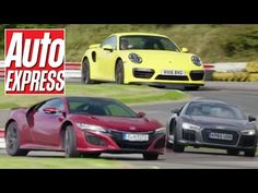 Honda NSX vs Porsche 911 Turbo vs Audi R8 V10 supercar track battle - WATCH VIDEO HERE -> http://bestcar.solutions/honda-nsx-vs-porsche-911-turbo-vs-audi-r8-v10-supercar-track-battle     Honda's new NSX takes two of its main rivals, the Porsche 911 Turbo and the Audi R8 V10. Steve Sutcliffe puts the cars on their steps on a hot ride from our test track. What is the fastest? Honda NSX vs Porsche 911 Turbo twin test:   Video credits to Auto Express YouTube channel