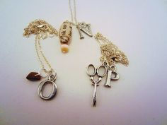 Rock/paper/scissors silver necklaces for best friends. Tigers eye rock, paper bead. Set of three. Bff jewelry. Friendship gifts.. $30.00, via Etsy.