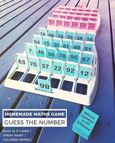 "120 Likes, 9 Comments - The Novel Classroom (@thenovelclassroom) on Instagram: ""So pleased with this one! Just finished making a 'Guess the Number' maths game, using a 'Guess…"" #mathtutoring #mathtutoringideas"