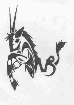 Capricorn Tribal Tattoos