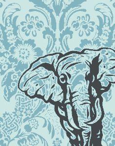 Elephant Cross Stitch Pattern Damask and by ArtfulCrossStitch, $6.95