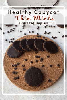 Copycat thin mints that are crunchy, minty and chocolatey. With the perfect amount of sweetness, to satisfy any sweet carvings.  They are gluten and dairy free to suit most diets.