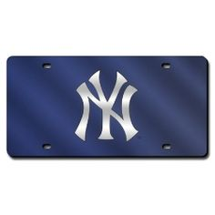 MLB Colored Laser Plate.  Acrylic mirror plate.  Features a reflective team color background.
