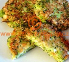 Detail receptu - Karbanátky z brokolice Brocolli, Quiche, Hamburger, Easy Meals, Food And Drink, Low Carb, Gluten Free, Cooking Recipes, Vegetarian