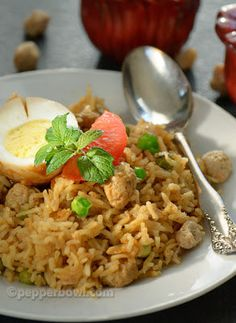 This recipe of 'Soya Chunck Biryani' recipe has whole some flavors and taste, so raitha with step by step pictures and instruction. | pepperbowl.com