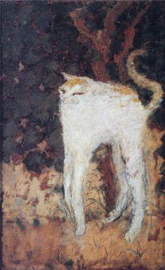PIERRE BONNARD. The White Cat, 1894, oil on canvas.