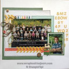 Scrapbook toujours avec Isabelle Lefebvre Scrapbook Sketches, Scrapbook Layouts, Stampin Up, Sketch 2, Album Photos, 2 Photos, Photo Layouts, Unique Photo, Project Life