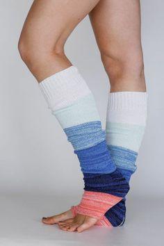 ombre knit legwarmers | three bird nest. Love.