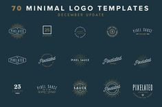 70 Vector Logo Templates by Pixel Sauce on @creativemarket
