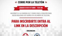 Carrera 5k: Correo por la Teletón  Hoy en el blog de César Hinojosa Quiroz y todo sobre el running en el Perú tenemos el agrado de compart... #unidoshacemosmas #teletonperu2016 #correporlateleton