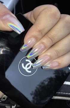 nails, chanel and rainbow image on We Heart It