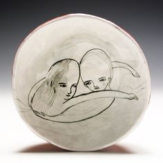 Pinched Ceramic  Bowl  Floating Embrace by jennymendes on Etsy, $50.00