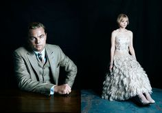 The Great Gatsby (2013) | From the pages of Australian Vogue: Leonardo DiCaprio (Gatsby) and Carey Mulligan (Daisy Buchanan)