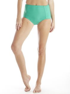 high waist in kelly #reyswimwear #highwaistswimsuit #kellygreenswimsuit #modestswimsuit