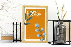 Natural Wood Frame Mockup by Digital_infusion on Envato Elements Wooden Picture Frames, Paint Markers, Packaging Design Inspiration, Photo Illustration, Abstract Backgrounds, Natural Wood, Mockup, Graphic Design, Fox Design