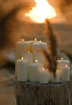 candles in the great outdoors