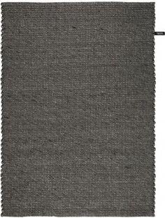 Flat Weave Moon Wool Rug Charcoal