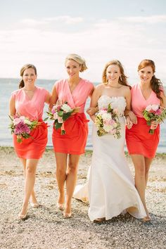 Colorblock #bridesmaids dresses