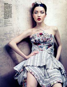 """Rhapsody of Fashion, The Evolution of Louis Vuitton"" | Model: Du Juan, Photographer: Sharif Hamza, Vogue China, August 2012"