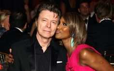 David Bowie & his wife Iman