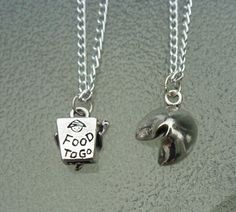 Best friends necklace food necklace fortune by BlueBubbleCrystals
