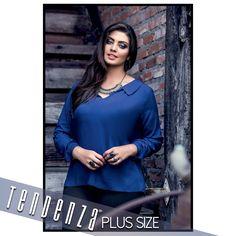 """Conheça esta linda blusa """"JIMI"""" da nossa linha Plus Size TDZ. Em 100% viscose, trás a elegância e conforto para a próxima estação. Coleção Inverno 2016! Sinta-se bem, use Tendenza."""