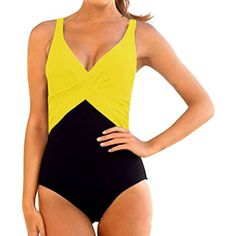 Winday Women's Tummy Control One Piece Plus Size Swimsuit Monokinis Swimwear ** Learn more by visiting the image link. (This is an affiliate link and I receive a commission for the sales) #Swimwear