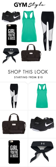 """""""Gym Style"""" by tee-fabe ❤ liked on Polyvore featuring Lorna Jane, adidas, NIKE and Under Armour"""