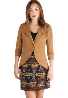 Fine and Sandy Blazer in Camel, #ModCloth